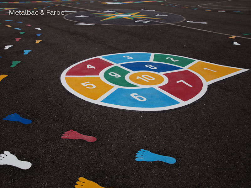 playground markings games; playground games for kids; outdoor play; math games; school yard games; educational games; asphalt games; interactive games; road markings signs; road traffic signs; handicap parking sign; road marking paint