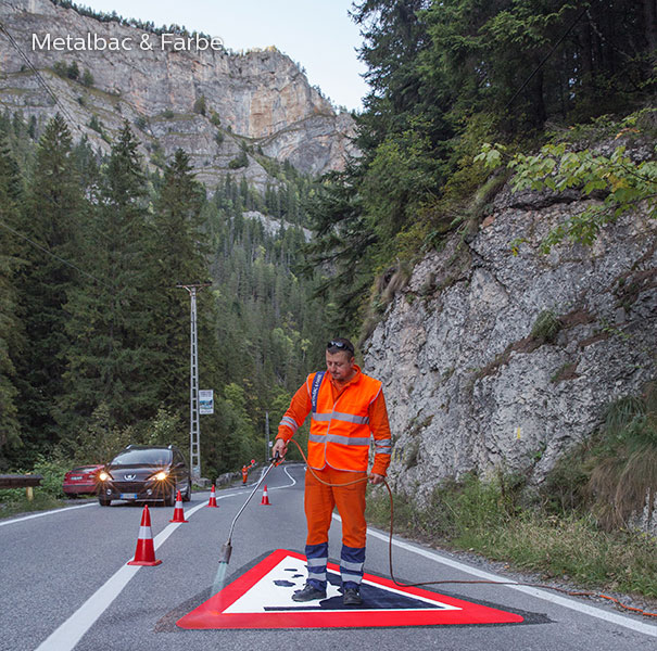 road marking signs; road traffic signs; road safety; street signs; parking lot striping paint; pedestrian crossings; preformed thermoplastic road marking; road marking paint; playground markings games; company logos; educational games