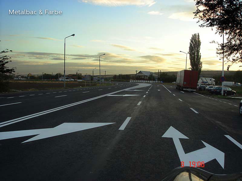 vopsea marcaje rutiere; semne de circulatie; produs vopsea bicomponenta; cold plastic; indicatoare rutiere orizontale de orientare si avertizare; trecere de pietoni; metacrilat de metil; vopsea 2k; cnadnr; sdn; drdp; pista de biciclete