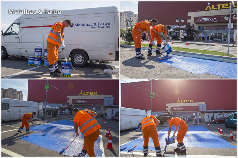 road marking paint; horinzotal road marking signs; road traffic signs; road safety; street signs; playground markings games; asphalt game; two component paint; cold plastic; bicomponent; 2k paint; parking lot striping paint; bicycle track