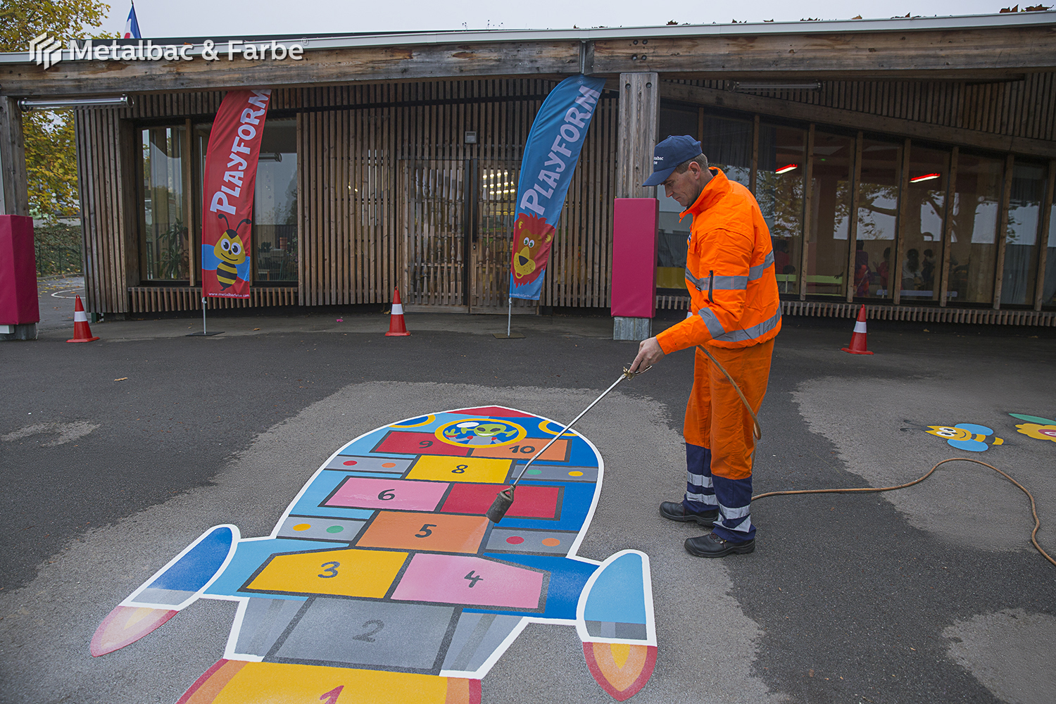 playground markings games; playground games for kids; outdoor play; math games; school yard games; educational games; asphalt games; interactive games; road markings signs; road traffic signs; crocodile games; hopscotch game; logical games