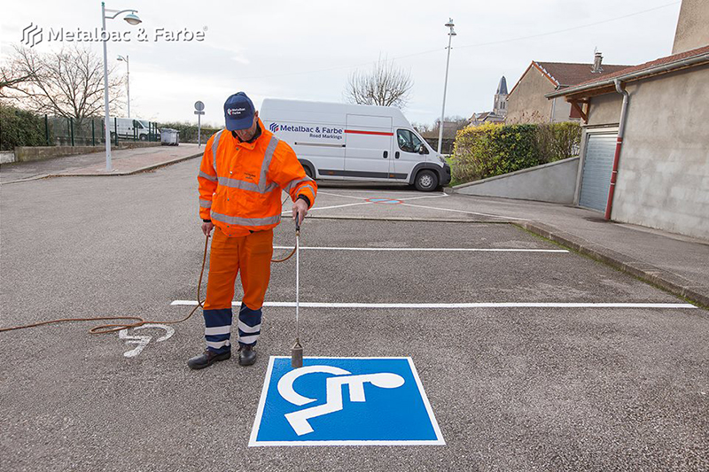 road marking signs; road traffic signs; road safety; street signs; parking lot striping paint; pedestrian crossings; preformed thermoplastic road marking; road marking paint; playground markings games; parking lot stencils; handicap parking sign