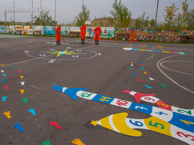 playground markings games; playground games for kids; outdoor play; math games; school yard games; educational games; asphalt games; interactive games; road markings signs; road traffic signs; alphabet game; snail games; turtle games