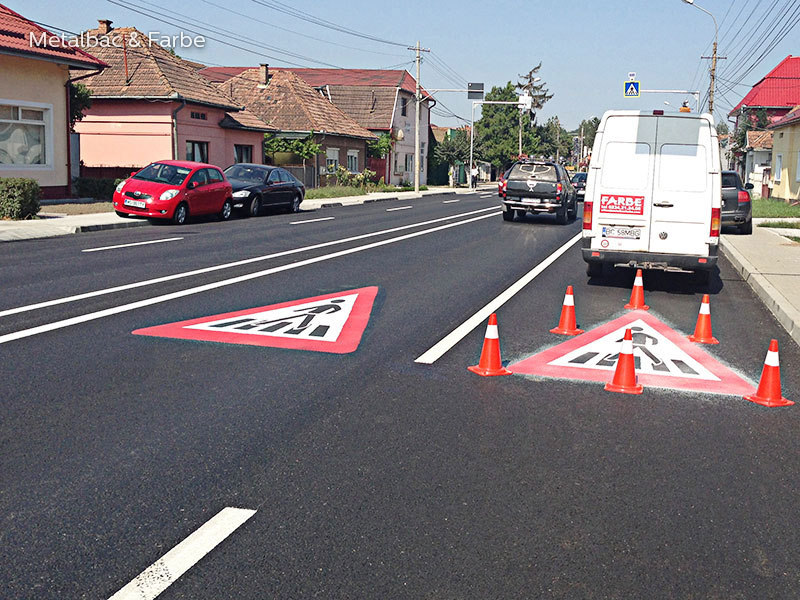 road marking signs; road traffic signs; road safety; street signs; parking lot striping paint; pedestrian crossings; preformed thermoplastic road marking; road marking paint; playground markings games; bicycle track; parking lot stencils