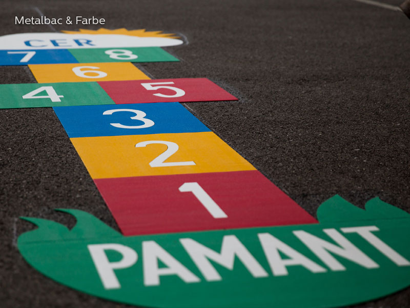 playground markings games; playground games for kids; outdoor play; math games; school yard games; educational games; asphalt games; interactive games; road markings signs; road traffic signs; hopscotch game; logical games; snail games