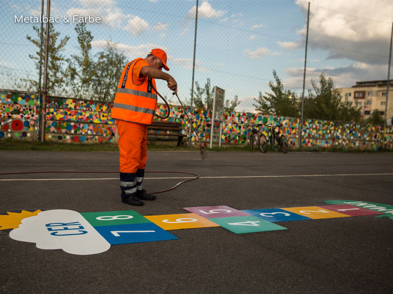 playground markings games; playground games for kids; outdoor play; math games; school yard games; educational games; asphalt games; interactive games; road markings signs; road traffic signs; hopscotch game; company logos; snake games