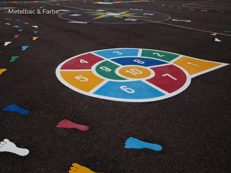 marquage au sol; marquage routier horizontal thermocollant; thermocollé préfabriqué; thermoplastique préfabriqué; jeux educatif pour enfants; jeux de cour de récréation; jeux d'école en plein air; peinture pour marquage au sol; jeu spirale